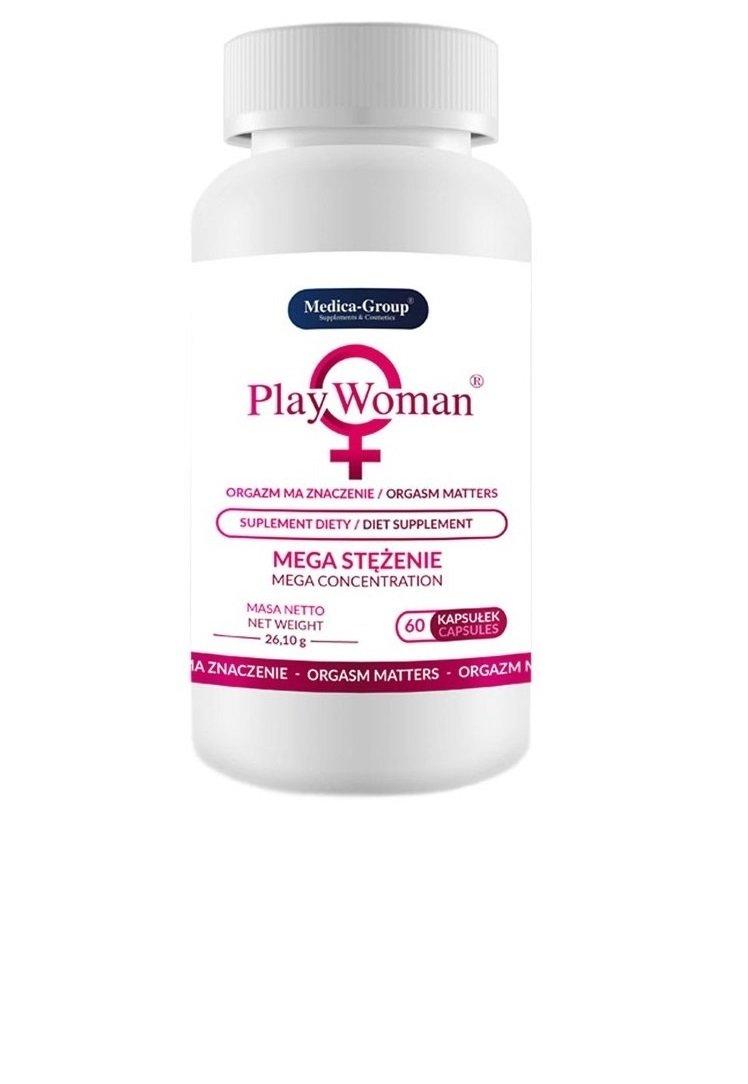 Medica Group PlayWoman – 60 kapsułek (tabletek) poprawiających intensywność orgazmów u kobiet