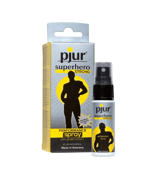 pjur superhero STRONG PERFORMANCE spray 20 ml – opóźniający wytrysk u mężczyzn