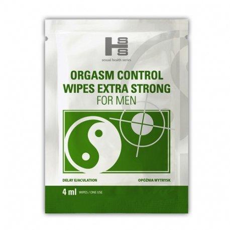 Orgasm Control Wipes 6 sztuk – chusteczki opóźniające wytrysk