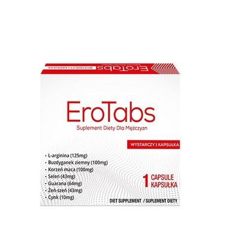 EroTabs 1 kapsułka na silniejszy orgazm u mężczyzn