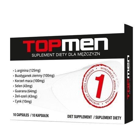 Top Men 10 kapsułek (tabletek) na silniejszy orgazm u mężczyzn